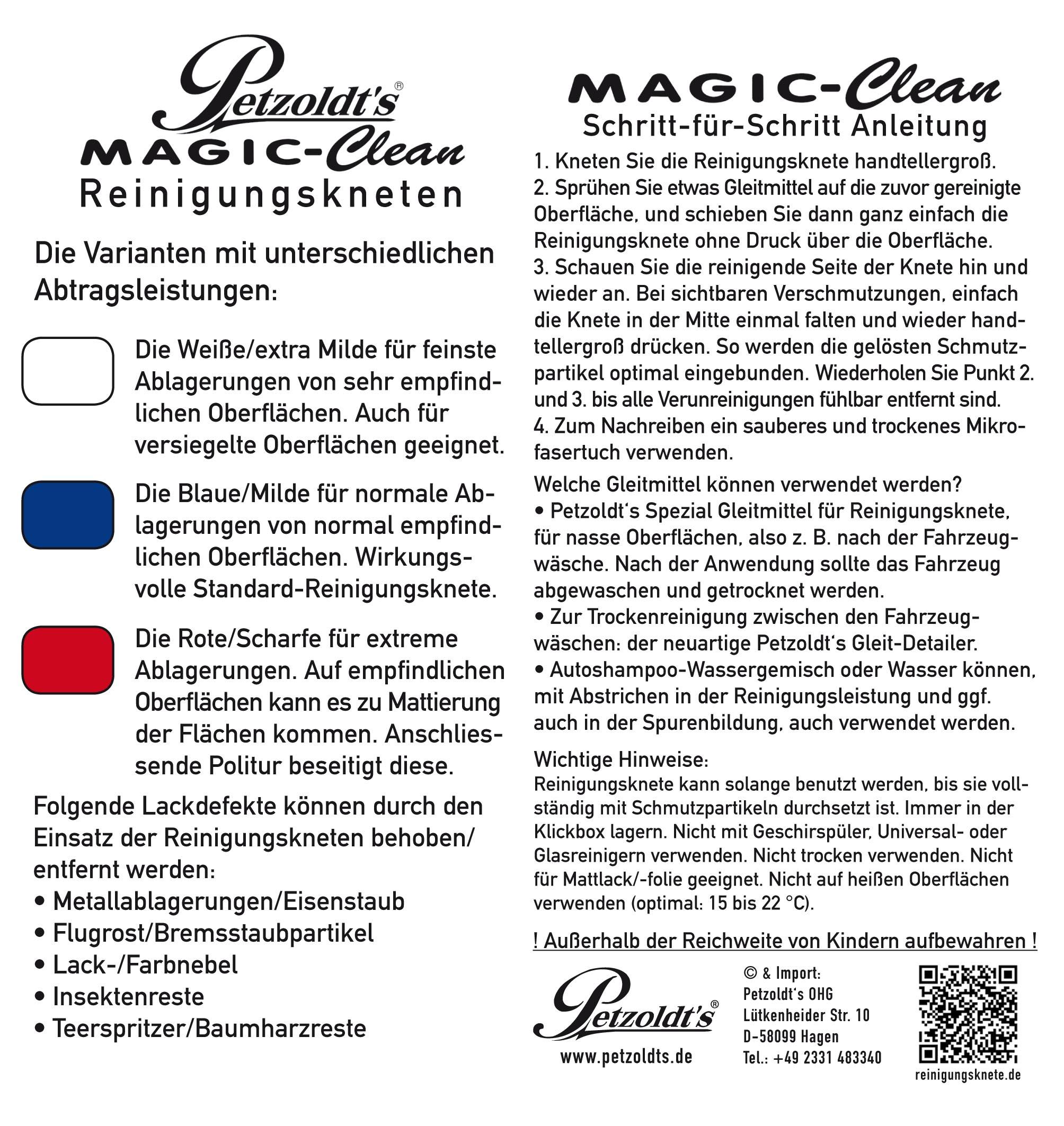 Petzoldts Reinigungsknete Gleit-Detailer Set