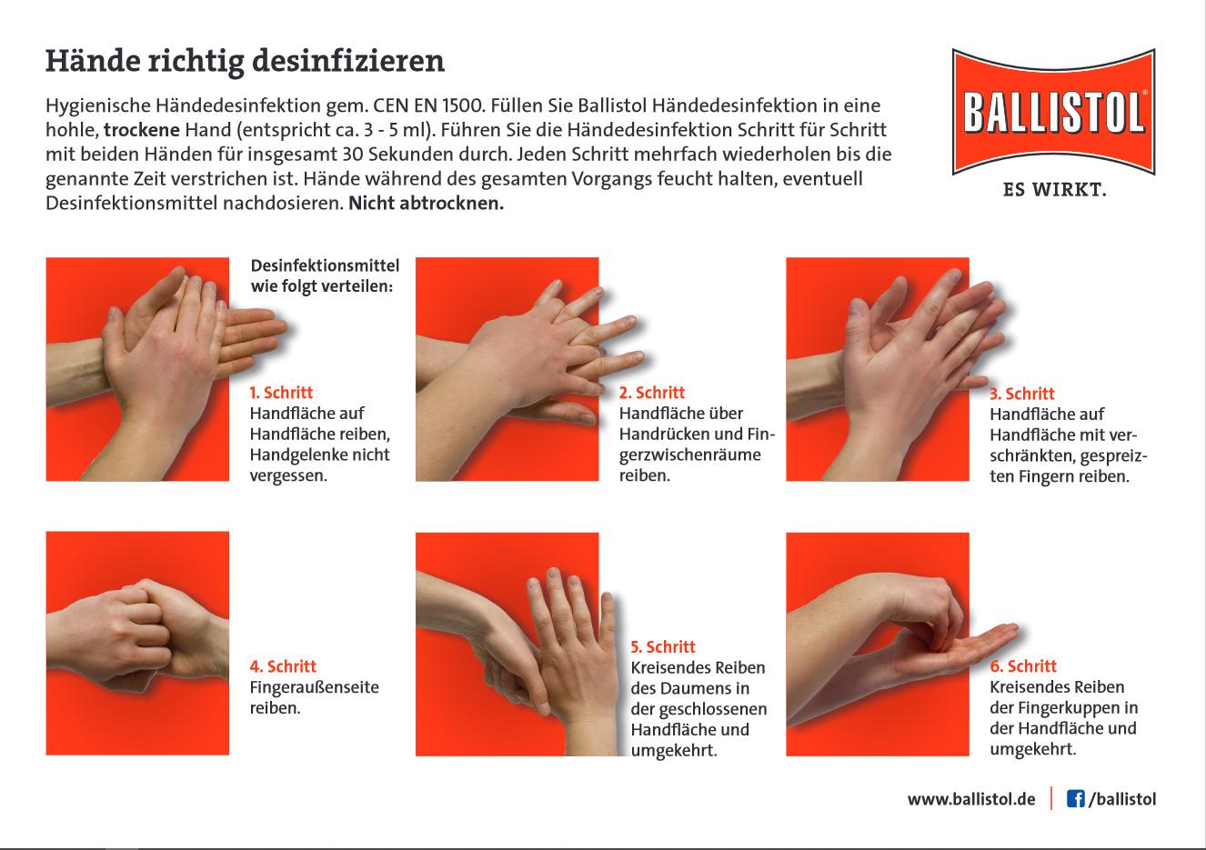 BALLISTOL Händedesinfektion, Antiseptikum
