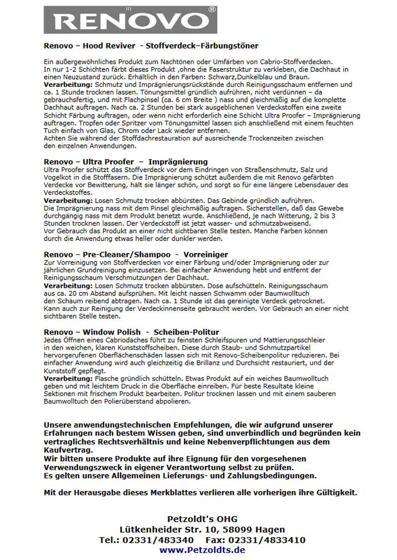 Kunststoffpolitur, transparent, Renovo