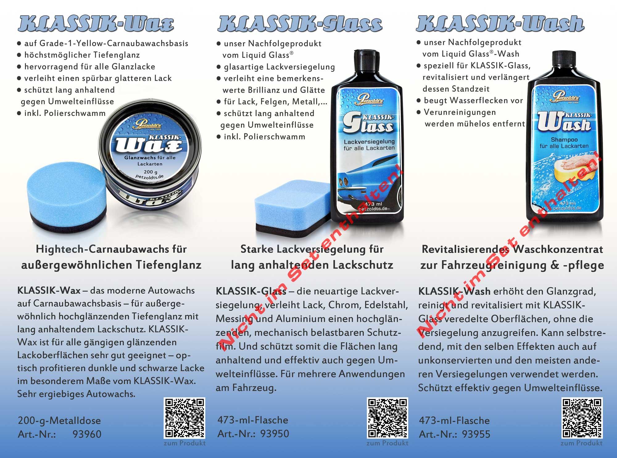 Petzoldts Superflausch-Wax Set, Autowachs mit Microfasertuch