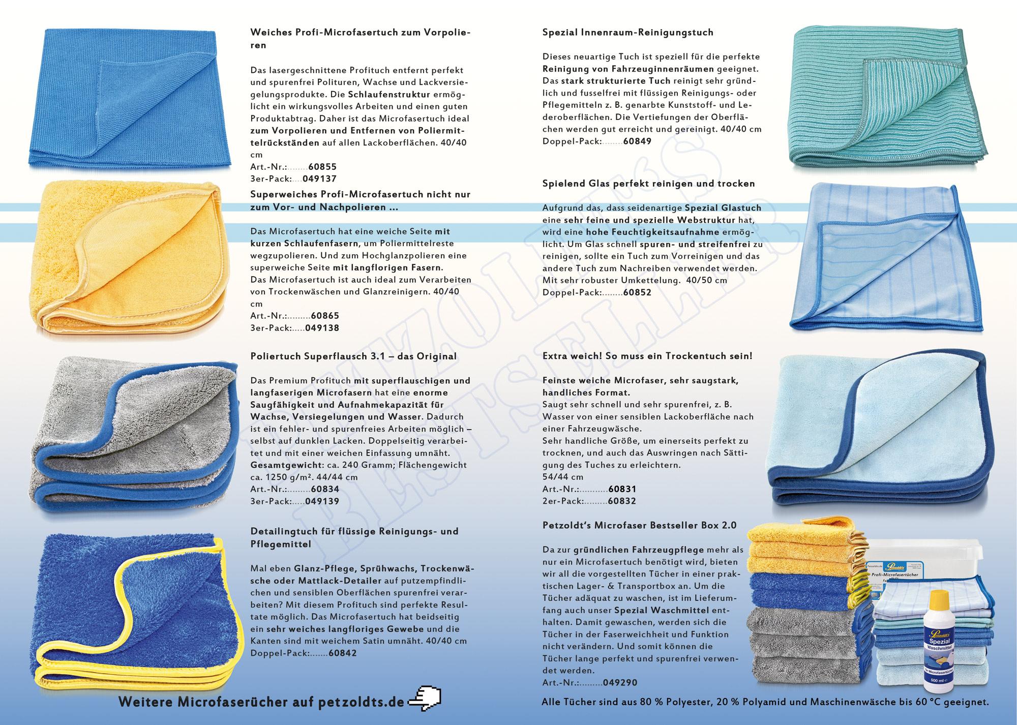 2er Microfaser Spezial Glastücher Set, Petzoldts
