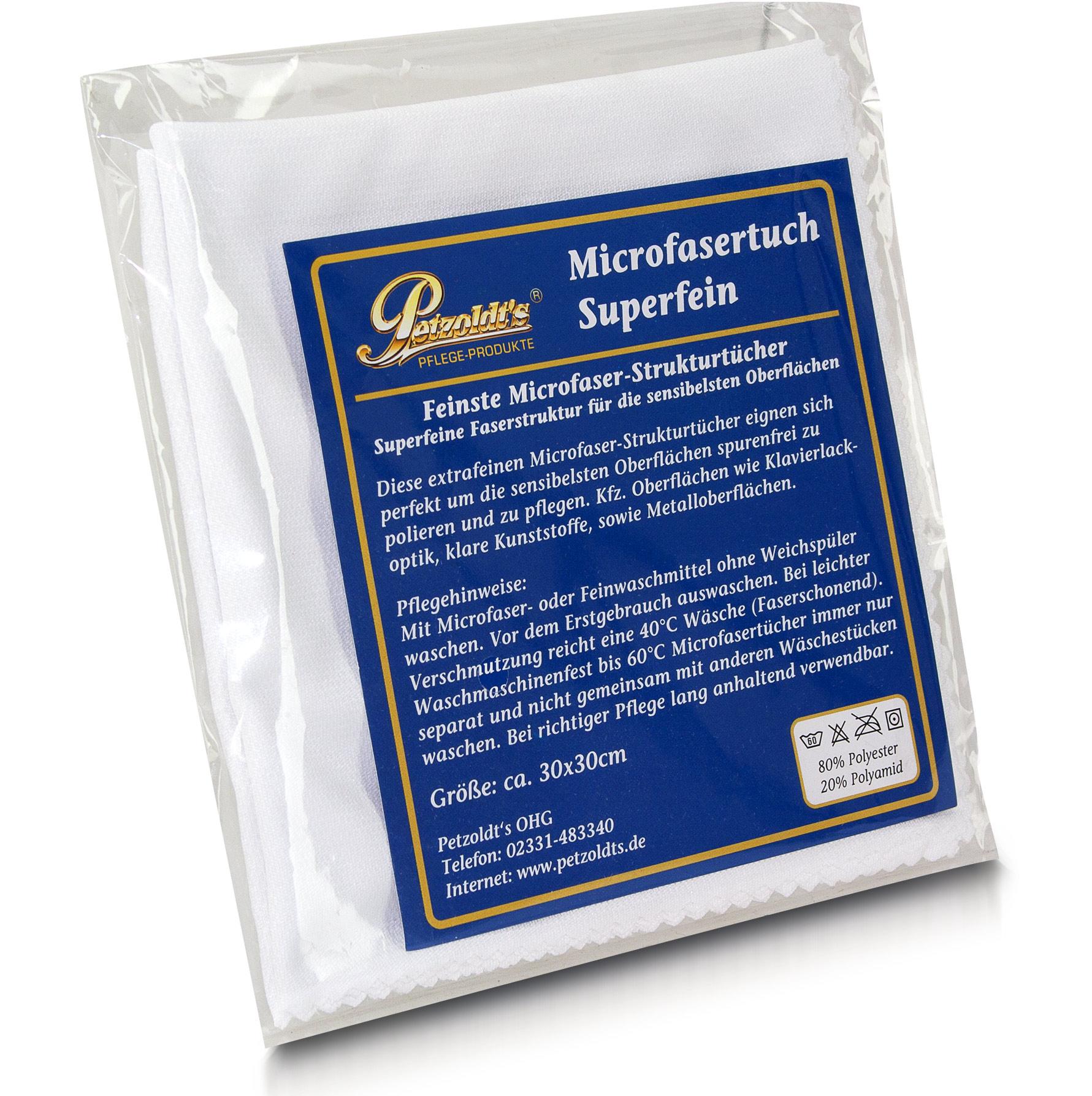 Petzoldts Microfasertuch Superfein, Polieren und Pflegen