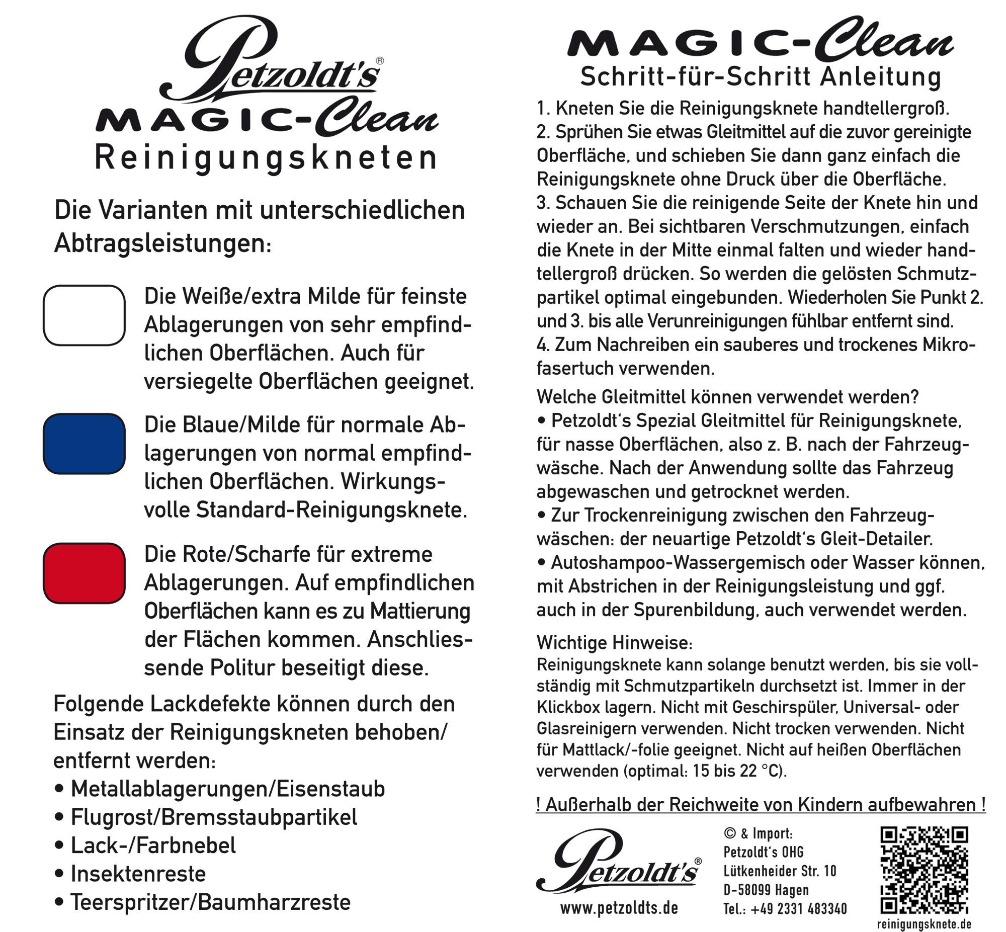 Petzoldts Reinigungsknete MAGIC-Clean, Lackreinigung, Blau
