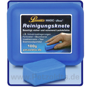 Petzoldts Reinigungsknete MAGIC-Clean, Lackreinigung, Blau