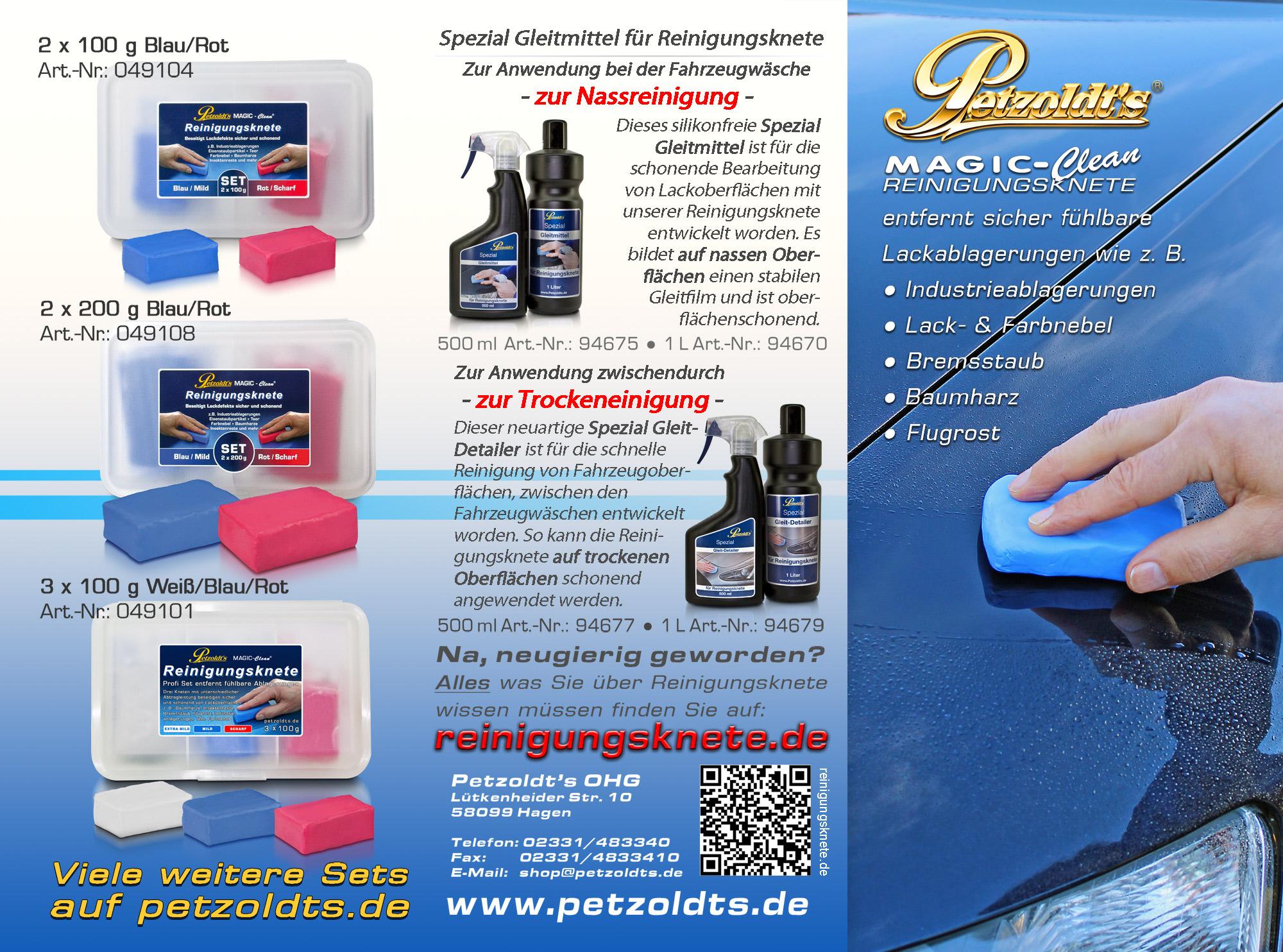 Petzoldts weiße MAGIC-Clean Reinigungsknete, extra mild
