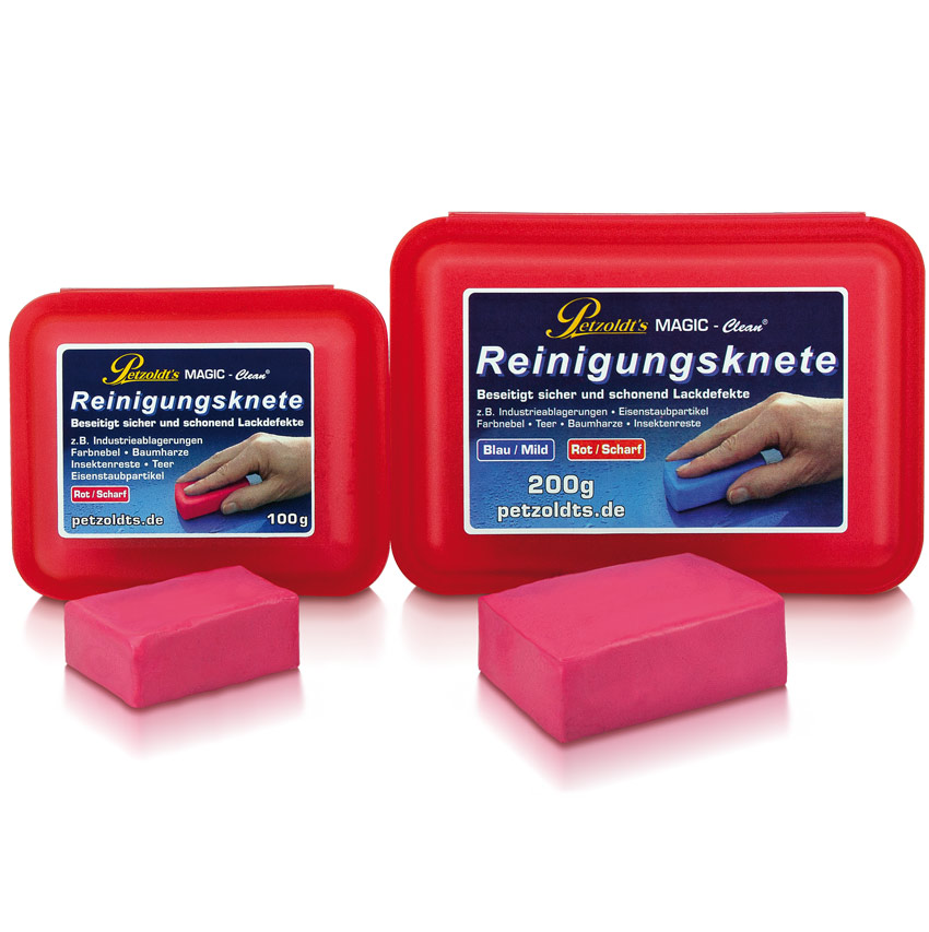 Petzoldts MAGIC-Clean Reinigungsknete, Rot, scharf
