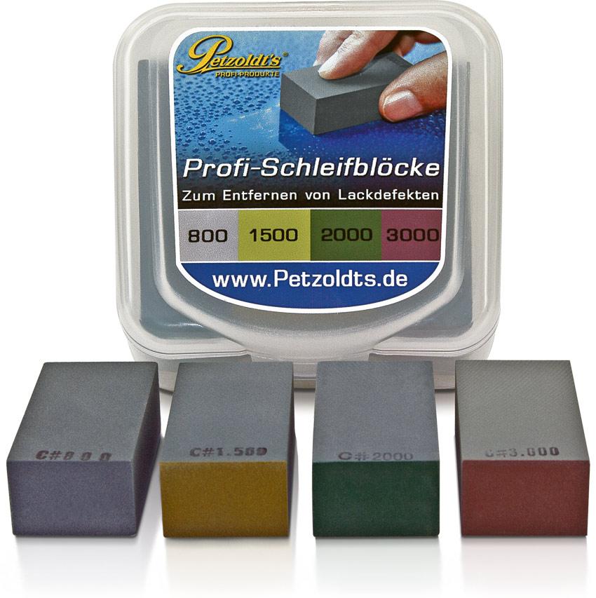 Petzoldts Profi-Schleifblöcke, in 4 verschiedenen Körnungen